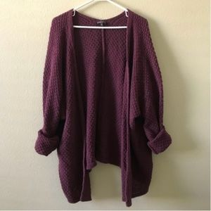Brandy Melville Burgundy Cardigan Thick Knit